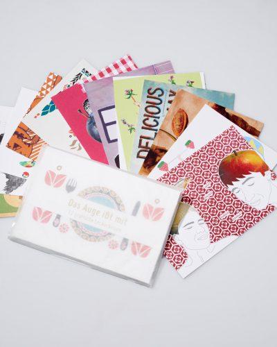 Das Auge isst mit – 12 Postkarten