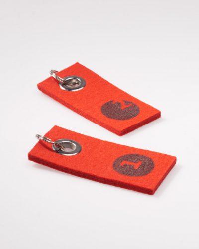 Schlüsselbund - Rot Filz
